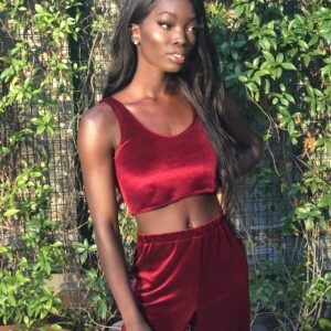 Dora Owusu Red Velvet 2-Piece