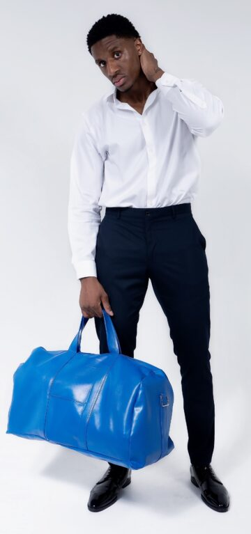 Dante Fisher Cobalt Blue Duffel
